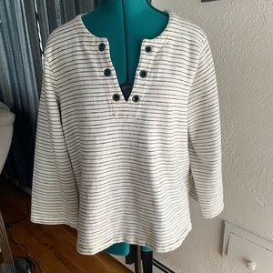 Madewell striped top pullover Sweater SZ L Large